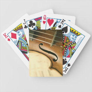 Detailed Violin Bicycle Playing Cards
