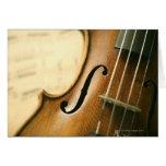 Detailed Violin Greeting Card