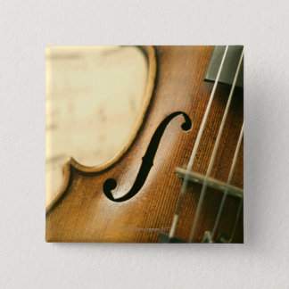 Detailed Violin Pinback Button