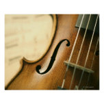 Detailed Violin Poster