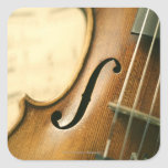 Detailed Violin Stickers