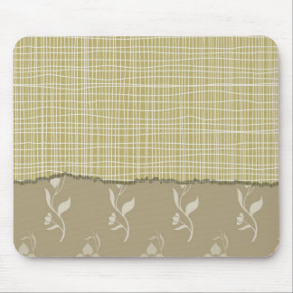 Detailed White Threads on Pale Green Fabric Look Mouse Pad
