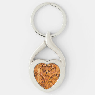 Detailed Wood Carving Keychain