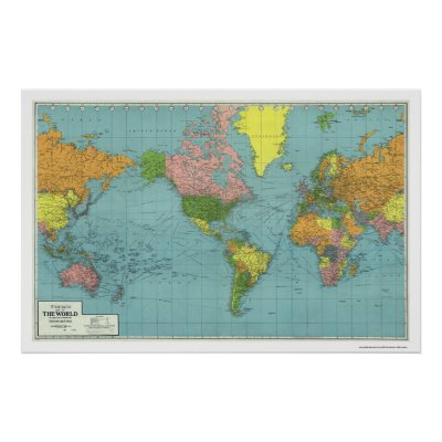 Detailed Vector World Map