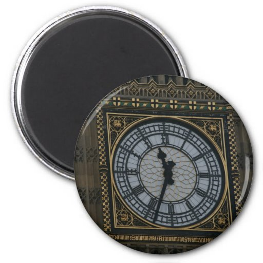 Detailed Zoom Big Ben Clock London Fridge Magnet