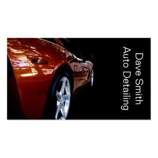 Detailer auto profesional tarjetas de visita