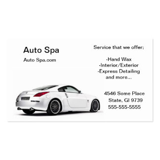 Detailing Shop Business Card Template