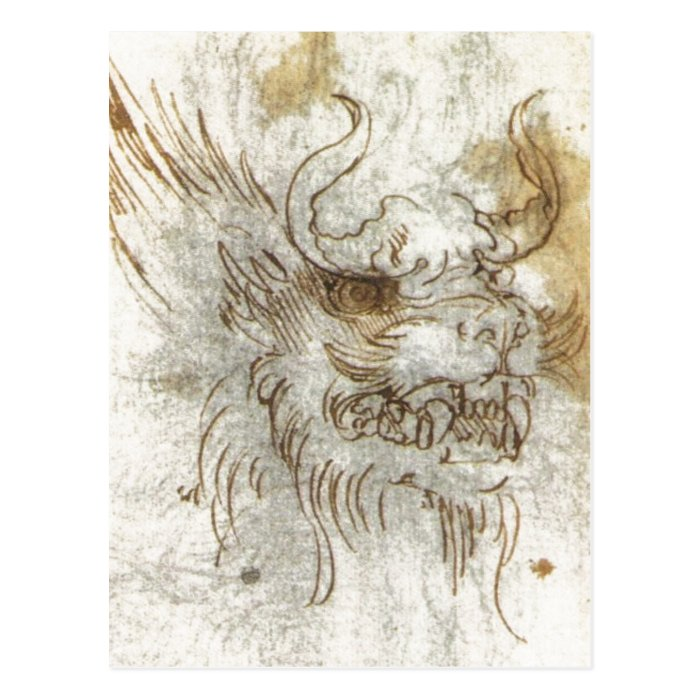 Details from a Study of a Dragon Costume 1517 1518 Postcard