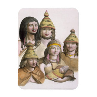 Details of headdresses in North West America colo Vinyl Magnet