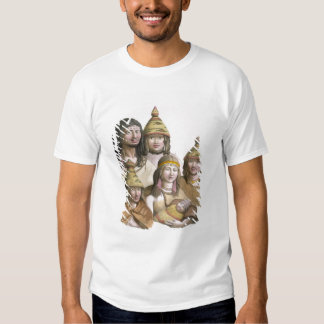 Details of headdresses in North West America (colo T-Shirt