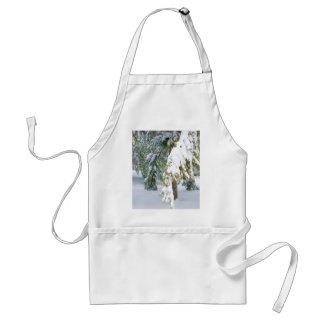 Details of heavy snow fall adult apron