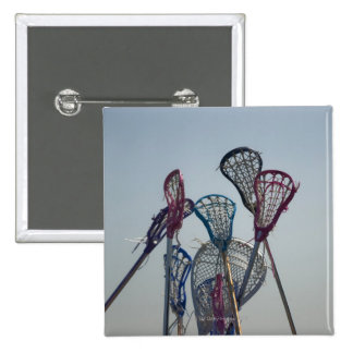 Details of Lacrosse game 2 Inch Square Button