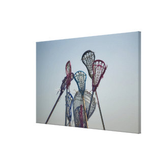 Details of Lacrosse game Stretched Canvas Prints