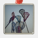 Details of Lacrosse game Christmas Ornament
