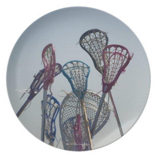 Details of Lacrosse game Dinner Plate