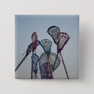 Details of Lacrosse game Pinback Button