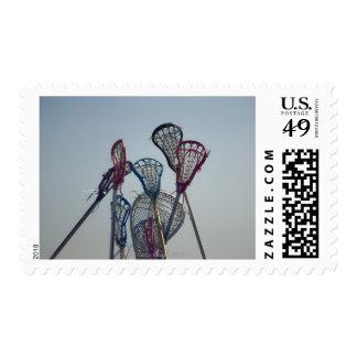 Details of Lacrosse game Postage Stamp