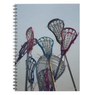 Details of Lacrosse game Spiral Notebook