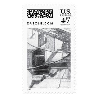 Details of the bridge postage