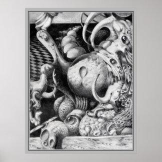 Detalle 2 del MONUMENTO de CTULHU Póster