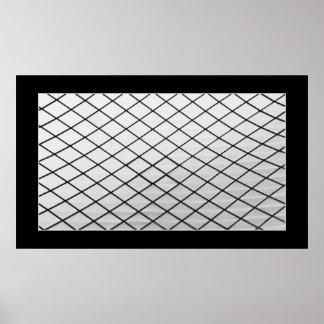 Detalle arquitectónico abstracto del tejado de cri impresiones