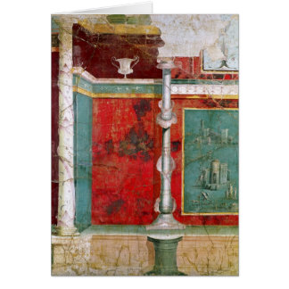 Detalle arquitectónico con un paisaje tarjeta de felicitación