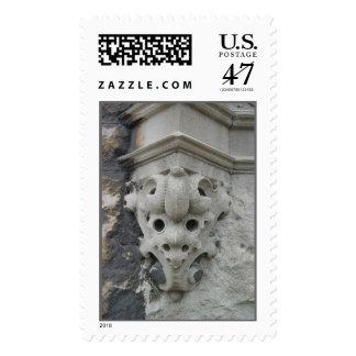 Detalle arquitectónico de Chicago Timbre Postal