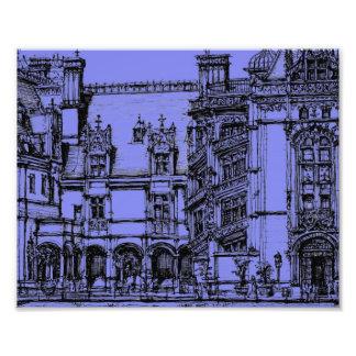 Detalle azul de Biltmore Impresiones Fotograficas
