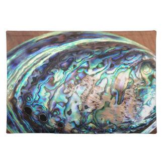 Detalle azul y verde del olmo de Paua de los crust Mantel Individual