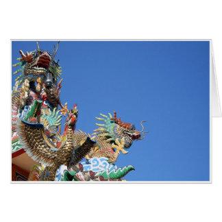 Detalle chino del templo tarjeta