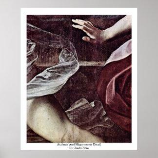 Detalle de Atalante y de Hippomenes de Guido Reni Póster