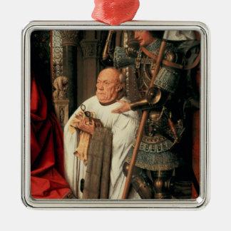 Detalle de Canon Joris van der Paele Adorno Cuadrado Plateado