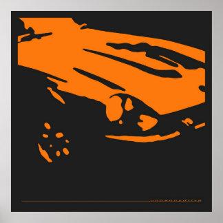 Detalle de Datsun 240Z - poster anaranjado