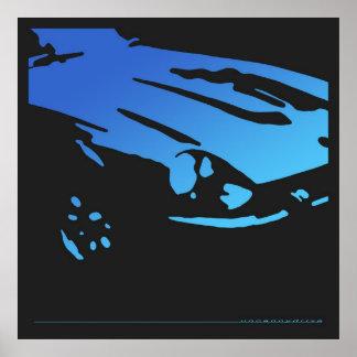 Detalle de Datsun 240Z - poster azul