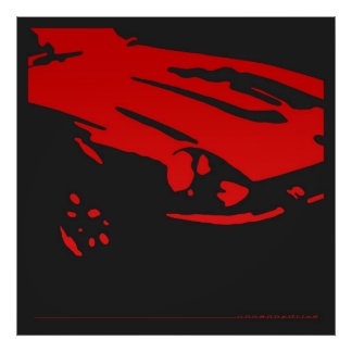 Detalle de Datsun 240Z - poster rojo