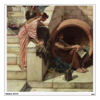 Detalle de Diógenes de John William Waterhouse Vinilo Adhesivo