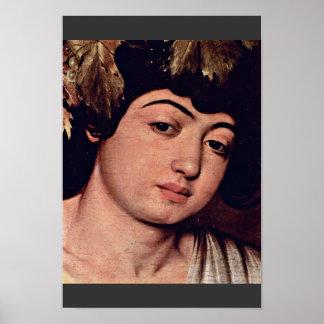 Detalle de Dionysus de Miguel Ángel Merisi DA Cara Posters
