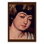Detalle de Dionysus de Miguel Ángel Merisi DA Cara Tarjetón