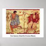 Detalle de dos bailarines por el amo de Etruscan Poster