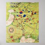 Detalle de Europa y de Asia Central Impresiones
