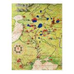 Detalle de Europa y de Asia Central Tarjetas Postales
