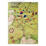 Detalle de Europa y de Asia Central Tarjetas