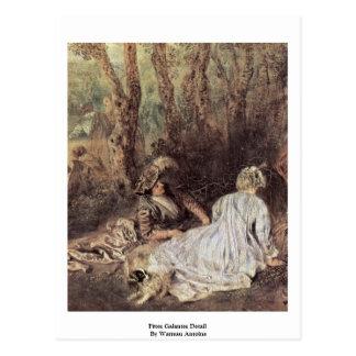 Detalle de Fêtes Galantes de Watteau Antoine Postales