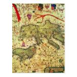 Detalle de la África del Norte y de Europa Tarjetas Postales