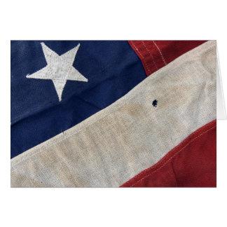 Detalle de la bandera de los E.E.U.U. - tarjeta de