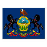 Detalle de la bandera del estado de Pennsylvania Tarjeta Postal
