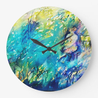 Detalle de la CACEROLA Y de los CIERVOS Reloj Redondo Grande