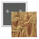 Detalle de la capilla de oro de Tutankhamun Pin Cuadrado