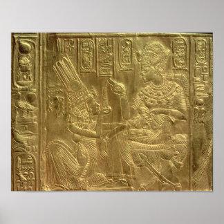 Detalle de la capilla de oro póster