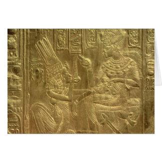 Detalle de la capilla de oro tarjeta de felicitación